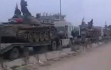 """Syria: Xe tăng, pháo binh rầm rập tiến về Đông Ghouta, phiến quân sắp bị """"nghiền nát"""""""