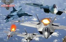 Su-57 Nga và F-22 Mỹ bất ngờ đụng độ tại Syria: Ai sẽ bắn trước?