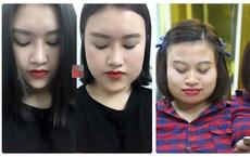 """""""Mai tóc thần kỳ"""" khiến khuôn mặt của cô gái thay đổi 180 độ"""