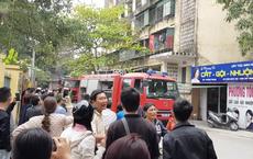 Cháy tầng 5 chung cư ở Nghệ An, nhiều người sợ hãi tháo chạy