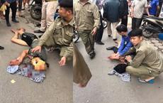 Hà Nội: Nam thanh niên cầm búa tự đập vào đầu khiến nhiều người hoảng sợ
