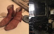 Dù phòng trọ bị cháy trụi do hỏa hoạn, nam sinh vẫn vui mừng vì đôi giày quý còn nguyên không sứt mẻ
