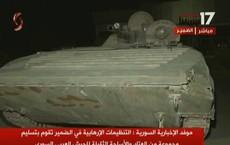 Chiến binh Hồi giáo lũ lượt xin hàng, giao nộp vũ khí cho quân đội Syria