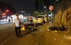 Xe bán tải tông 6 xe máy, 1 nạn nhân tử vong, nhiều người bị thương ở Sài Gòn