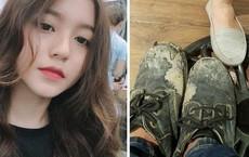 """Mang đôi giày rách thử lòng bạn gái, thanh niên bất ngờ bị dân mạng """"mắng"""" vuốt mặt không kịp"""