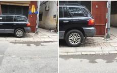 Chủ xe siêu cẩn thận: Buộc bánh xe vào cột đèn đường để tránh trộm cắp?