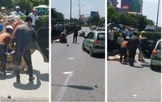Một CSGT Hưng Yên bị thương nặng sau va chạm với xe tải trên Quốc lộ 5