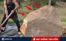 Ra sức đẩy tảng đá giữa đường sang 1 bên, ngay lập tức anh nông dân nhận được thứ giá trị