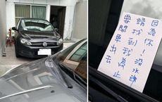 Vào nhà người khác để xe rồi bỏ đi chơi, thanh niên nhận được lời nhắn chua chát khi chủ nhà trở về