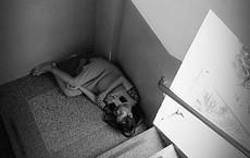 Mẹ bầu trẻ co ro nằm ngủ nơi góc cầu thang bệnh viện - bức ảnh khiến bao người cảm động rơi nước mắt