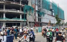 Rơi từ công trình trung tâm thương mại ở Sài Gòn, 3 công nhân nằm bất động