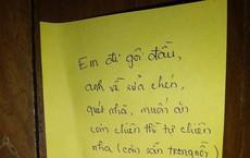 Vợ đi gội đầu để lại mảnh giấy nhắn dặn chồng tự nấu ăn, nhưng dòng cuối cùng mới là thứ gây cười