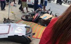 Xe tải tông hàng loạt xe máy đi lễ nhà thờ ở Long An, 1 người chết, 5 người bị thương