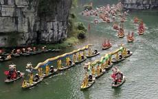 Lễ hội rước rồng độc đáo trên sông nước ở Tràng An - Ninh Bình