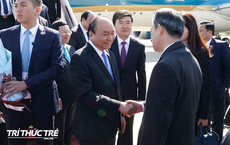 Những hình ảnh đầu tiên của Thủ tướng Nguyễn Xuân Phúc tại Trung Quốc