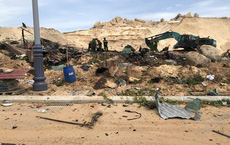 Hiện trường vụ nổ khu vực thi công sân golf tại Cam Ranh