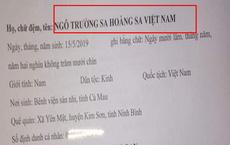Bé trai có tên hiếm dài 7 chữ: 'Ngô Trường Sa Hoàng Sa Việt Nam', lý giải của người mẹ gây ấn tượng mạnh