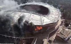 Sân vận động của đội bóng Tevez thi đấu bị cháy dữ dội
