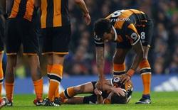 Tranh chấp bóng với Cahill, cầu thủ Hull bị nứt sọ