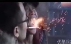 Giới võ thuật bàng hoàng: Võ sư Trung Quốc phát hỏa kình phun lửa