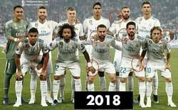 """Sự trùng hợp kỳ lạ giữa 2 bức ảnh chụp Real Madrid và """"phép màu"""" của Zidane"""