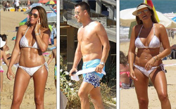 Vợ John Terry diện bikini bốc lửa trên bãi biển Bồ Đào Nha