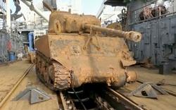[Ảnh] Quân đội Nga trục vớt được xe tăng Mỹ dưới biển Barents