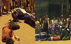 Thiếu nữ dũng cảm đẩy ngã xe tên cướp, tri hô người đến cứu