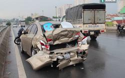 Tai nạn liên hoàn, ô tô bẹp dúm vì tránh chiếc mũ bảo hiểm