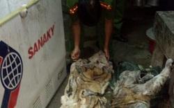 Cận cảnh xác hổ bị xẻ thịt, giấu trong tủ lạnh hàng xóm