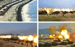 [ẢNH] Pháo binh Triều Tiên ầm ầm khai hỏa trong cuộc tập trận lớn nhất lịch sử