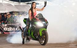"""""""Nữ biker Việt bốc đầu xe trên phố"""" và sự thật gây xôn xao mạng xã hội"""