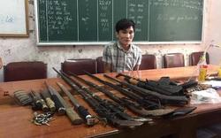 Con nghiện giấu kho súng, lựu đạn để chống trả CA khi bị phát hiện