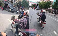 """Chàng trai và chiếc xe máy """"gây ồn ào"""" trên đường phố Hà Nội"""