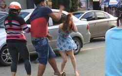 Clip: Nam thanh niên đánh cô gái thô bạo sau va chạm giao thông
