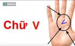 Bạn tìm xem trong lòng bàn tay có hình chữ V không, nó có ý nghĩa gì?