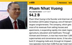 Tỷ phú Phạm Nhật Vượng thành người Việt duy nhất vào danh sách 500 đại gia giàu nhất hành tinh