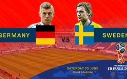 TRỰC TIẾP World Cup 2018: Đức vs Thụy Điển (01h00)