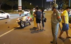 CSGT bị thanh niên đi xe máy tông trọng thương