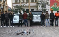Nhóm côn đồ đi ô tô mang hung khí đập phá nhà người dân bị khống chế bắt giữ