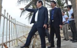 Chủ tịch Huỳnh Đức Thơ đi thị sát, chứng kiến bờ biển Đà Nẵng sạt lở kinh hoàng