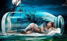 3 hot girl chụp nude body painting táo bạo nhất năm 2013