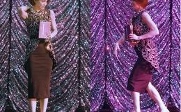 Hồ Ngọc Hà bỏ cả giày để chạy lên sân khấu nhận giải
