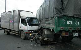 TP.HCM: Xe tải vượt đèn đỏ, va chạm liên hoàn trên quốc lộ