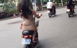 """Hà Nội: Thiếu nữ đi xe biển số """"siêu khủng"""" 80B8-8888"""