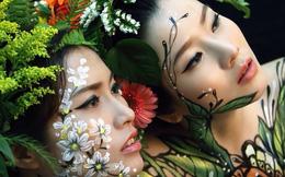 Cận cảnh quá trình vẽ body painting của hot girl Hani Nguyễn