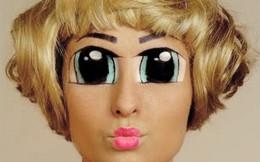 Phong cách hóa trang mắt anime siêu dị thường