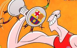 """Chế - Vui – Độc: Beckham ăn mừng, Barca bị """"làm nhục"""""""