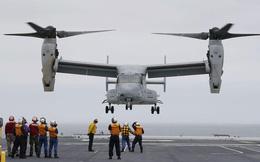 MV-22 Osprey lần đầu hạ cánh xuống tàu chở trực thăng của Nhật