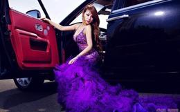 Váy tím nóng bỏng bên Rolls-Royce Ghost